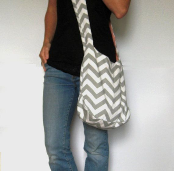 Hey, I found this really awesome Etsy listing at http://www.etsy.com/listing/150330724/cross-body-hobo-bag-chevron-purse-gray
