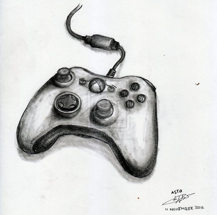 D Line Drawings Xbox : Xbox controller by astoadip viantart on deviantart