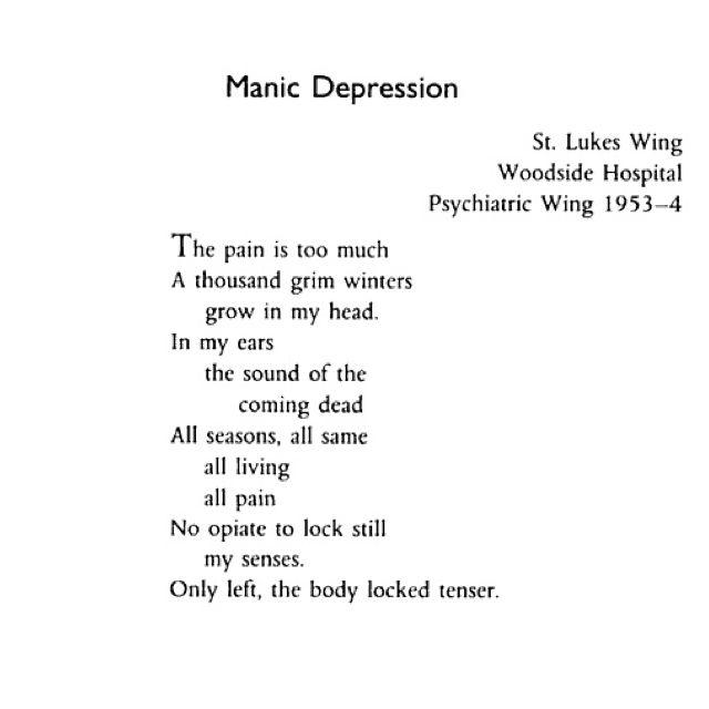 A poem written by Spike Milligan following a mental breakdown