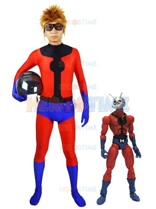 Spandex Marvel Ant-Man Superhero Costume fullbody halloween cosplay Adult Ant-Man Costume show zentai suit free shipping