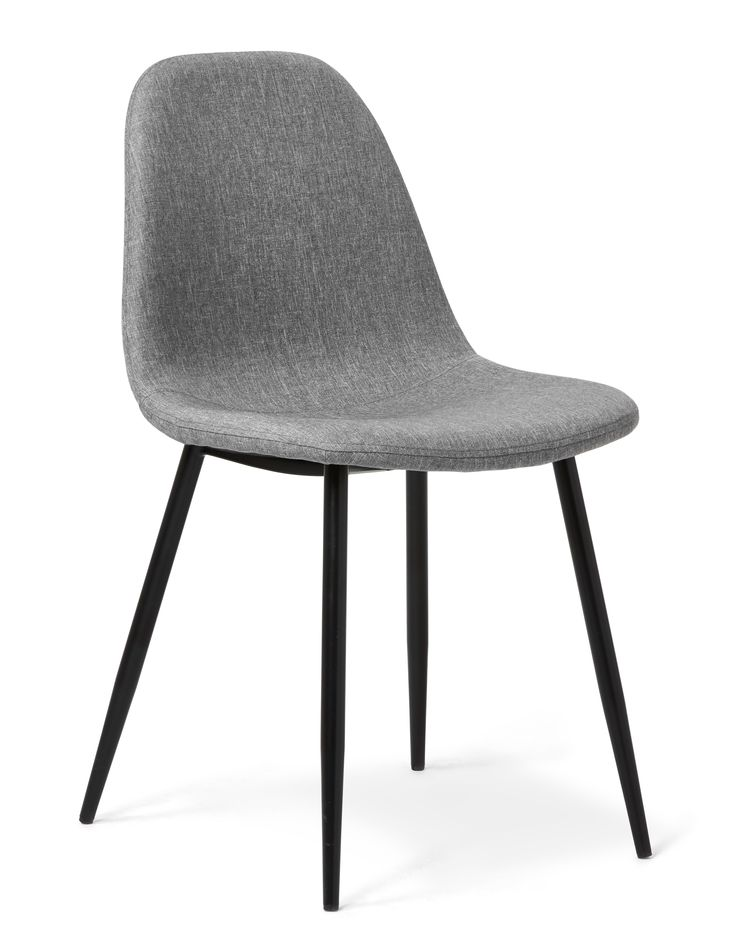 Sitt snyggt - vid matbordet, i hallen, vid skrivbordet eller där du vill ställa stolen Theo. Den har en skön komfort med stoppad sits klädd i ett vackert grått tyg. De nätta metallbenen och den enkla designen gör att stolens andas retro och 50-tal. Vart ställer du din Theo stol?