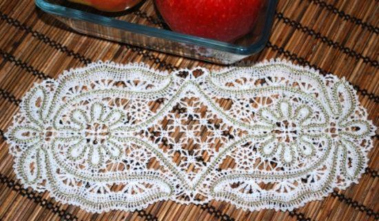 Advanced Embroidery Designs - FSL Battenberg Sunflower Doily