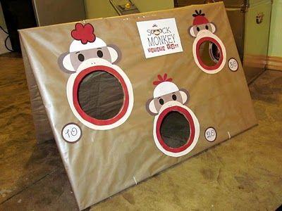 DIY beanbag toss