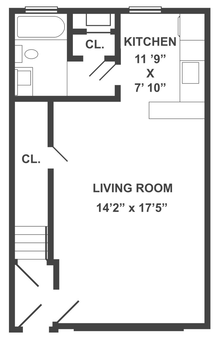 Typical Studio Apartment Floor Plan | 250 Ft Studio Apartment Floor Plans  Our typical studio floor