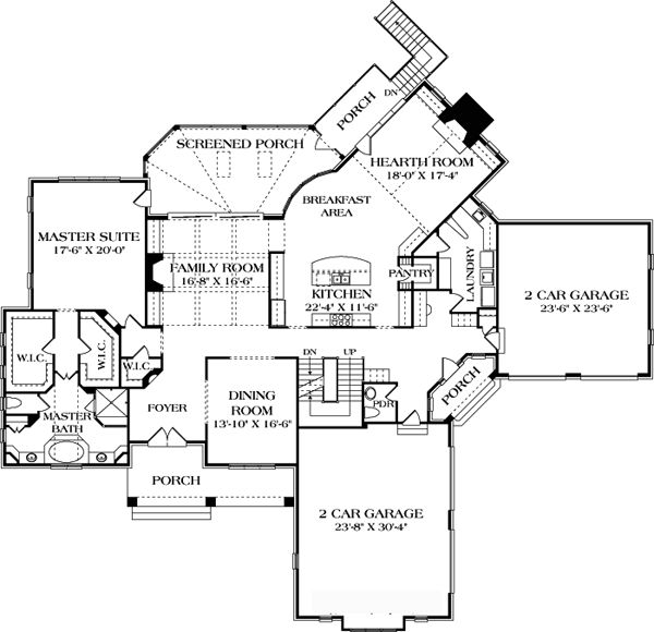 Craftsman style house plans with hearth room for House plans with hearth room