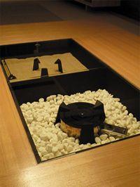 千里中央の家 マンションのデザインリフォーム 囲炉裏テーブル
