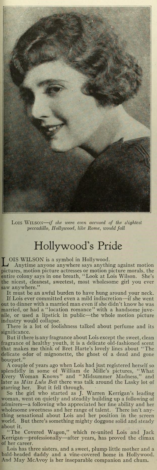 Photoplay July 1923 - Lois Wilson