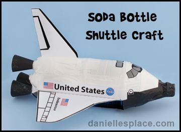 Students can create these space shuttles using soda bottle and they would make a great 3D addition to a space themed bulletin board display.