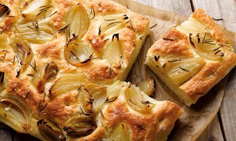 Dan Lepard's Roasted Onion Focaccia: 'these can quite easily be made into a meal in themselves'.