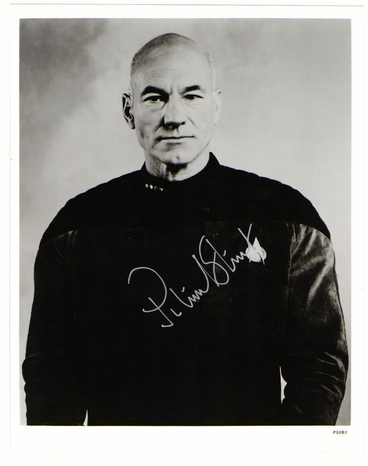Patrick Stewart. Star Trek X-Men. Hand Signed Autograph 8 x 10 Photograph