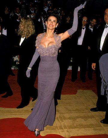 Demi Moore's  LILAC GOWN