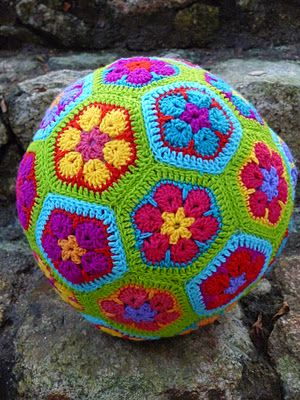crochet ball, perfect for a game of cetch in the house