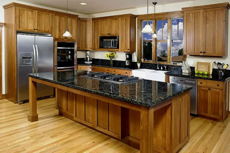 I like the chunky wood but this would be so dark in our kitchen.  I could leave the walls white (!!!)