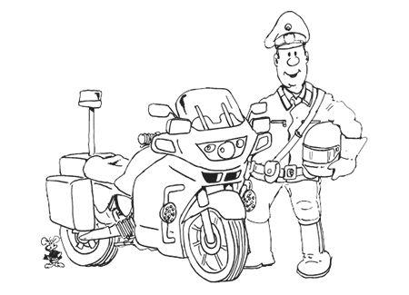 Ausmalbild Polizei Motorrad 83 Malvorlage Polizei