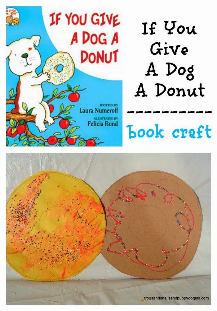 Teaching Toddlers Thursday >> If you give a dog a donut book craft | preschool ideas | Pinterest | Crafts, Activities and Cats
