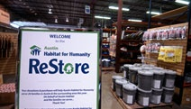 excess building materials donated to benefit Habitat---you can find some cool lighting, furniture, fixtures