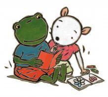(2014-08) Nellie og Cezar læser bog