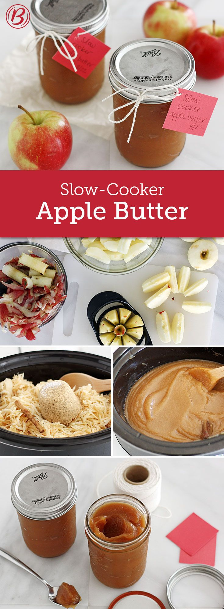 All you need are apples, brown sugar, salt and a cinnamon stick to make our velvety slow-cooker apple butter. Great for gifting!