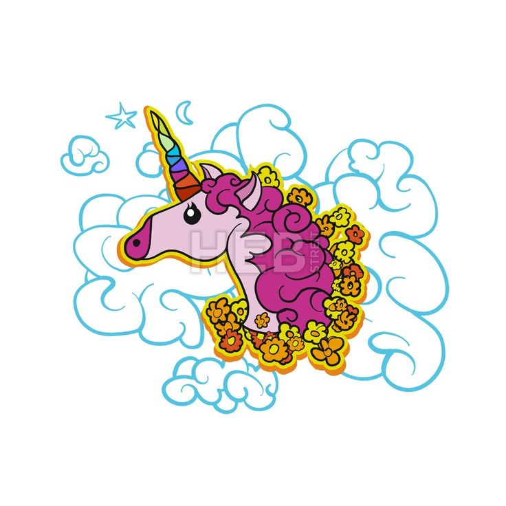 Pink Cute Unicorn on Cloud by Hebstreits #stockfootage #drawing #sketch #animation #pen #footage