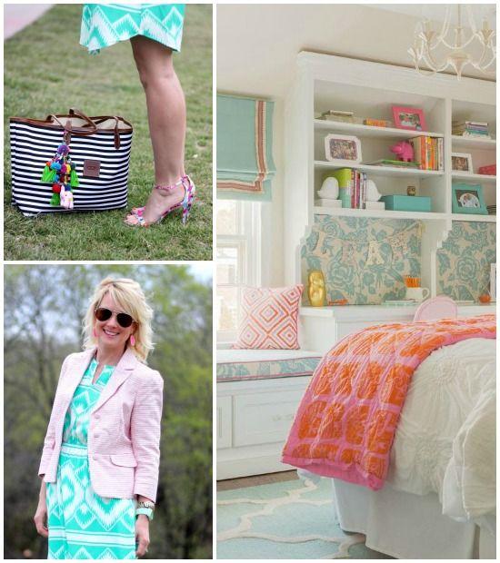Hi Sugarplum   {Outfit Inspiration} Aqua & Hot Pink bedroom idea for M