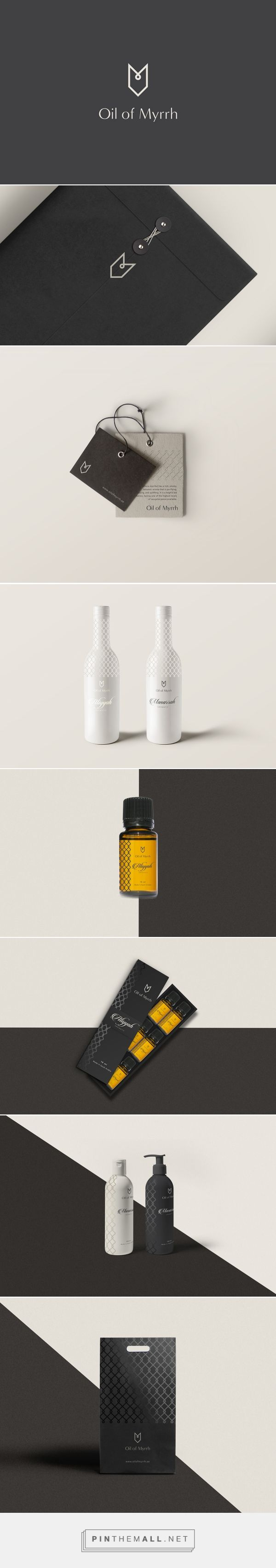 Oil of Myrrh packaging on Behance by Sebastian Bednarek curated by Packaging Diva PD. Myrrh oil's benefits attributed to its powerful antioxidant, antifungal, antiviral, anti-inflammatory, anti-parasitic, expectorant, and antispasmodic properties.