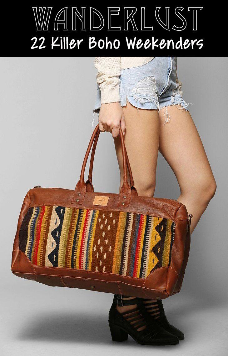 Boho weekender bags!