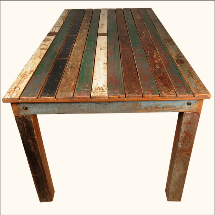 Distressed Wood Furniture | ... Reclaimed Wood Distressed Dining Table  Furniture For 8 People Part 89