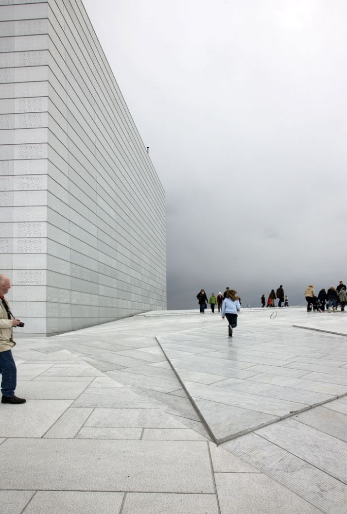 Norwegian National Opera & Ballet, Oslo, Norway by Snøhetta,winner of the European Union Prize for Contemporary Architecture – Mies van der Rohe Award 2009.