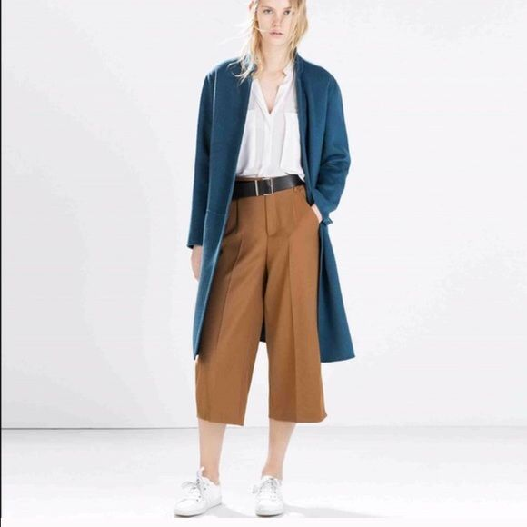 Zara Culottes Zara Culottes Camel colored. Size Small. NWT (never worn before, still have tags on). Great trending pants for spring especially the color too! Zara Pants