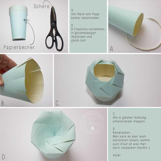 Geschenkverpackung aus Pappbecher