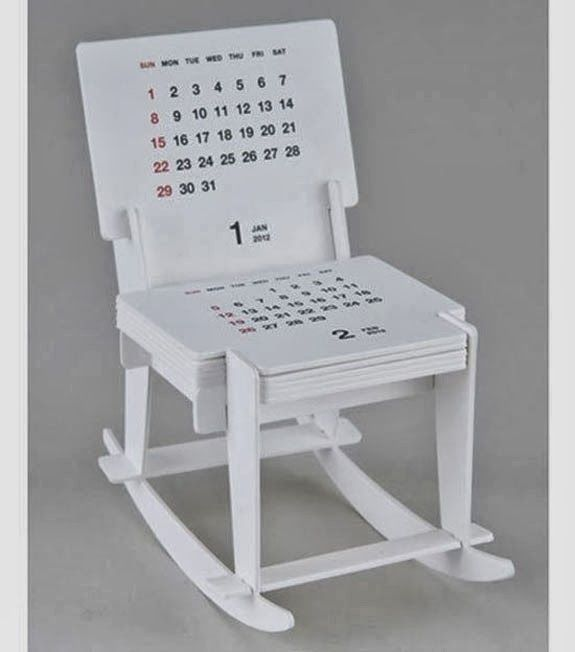 Creative Calendar Design Ideas For 2014 - Rocking Chair Sculpture Calendar