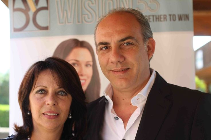 Grazia D'Arrigo (Socia Wision55) e Fabrizio Crimi