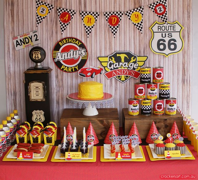 """Photo 1 of 32: Race Cars / Birthday """"Vintage Racing Car Party""""   Catch My Party"""