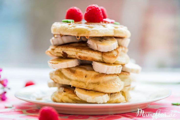 Das sind die weltbesten Pancakes! Perfekt für einen entspannten Sonntag mit der ganzen Familie.