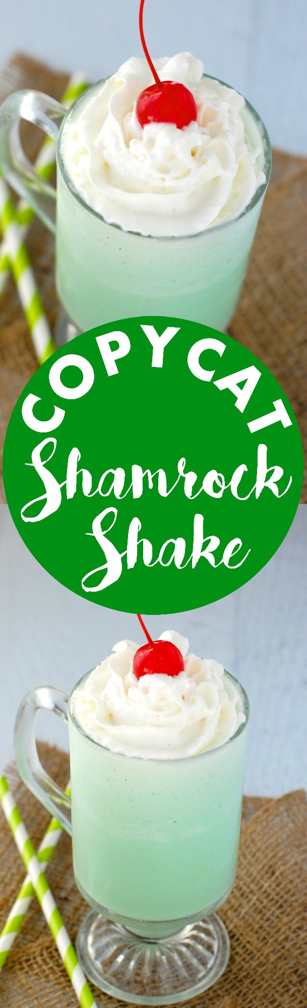 Copycat Shamrock Shake! | The delicious Shamrock Shake, made super easy at home!:
