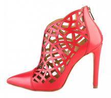 Versace 1969, červené členkové dizajnové topánky, AGATHE_ROSSO
