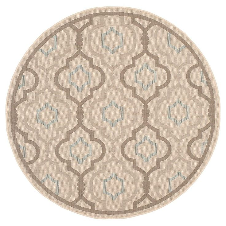 Ideal Lorient Rectangle u X u Runner Outdoor Patio Rug Beige