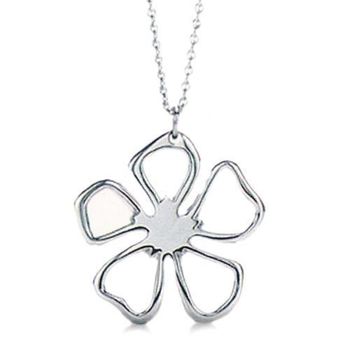 jewelry silver | Tiffany Necklaces Jewelry Heart Clover Pendant Silver Necklace