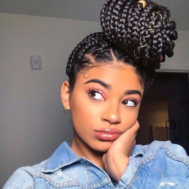 Wie Du In 5 Schritten Deine Afrohaare Fur Ein Protective Style Vorbereitest Geflochtene Haare Box Braids Hairstyles Haar Styling