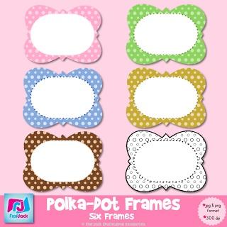 FREE Polka-Dot Frames Clip Art!