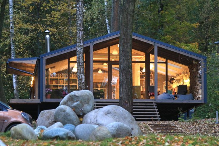 Beautiful cabin pops up in ten days with minimal landscape disturbance | Inhabitat - Green Design, Innovation, Architecture, Green Building