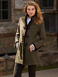 franca heathered moss coat