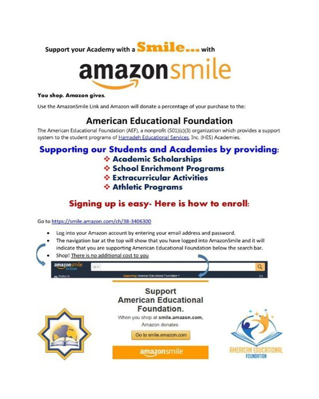 You Shop Amazon Gives Use The Amazonsmile Link And Amazon Will