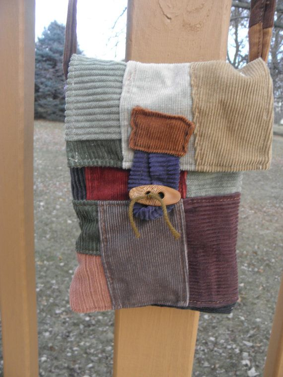 Lil' Bitty Patchwork Messenger pouch bag purse with by coffeejill, $15.00