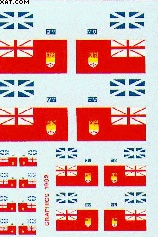 1/48 Canadian Ensign Aircaft FIN Flags