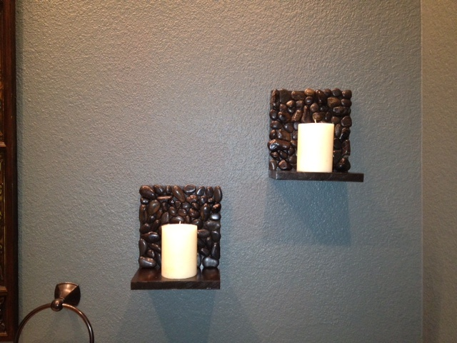 Diy Candle Sconce For Bathroom