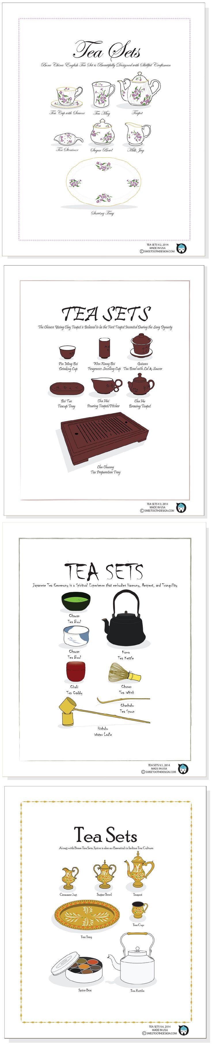 TEA SETS: English, Chinese, Japanese, and Indian Tea Sets