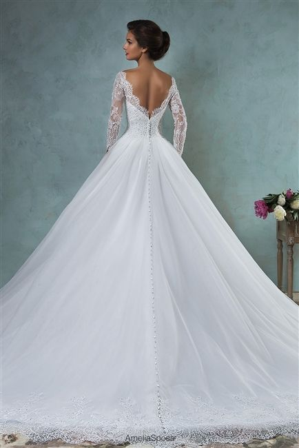 full princess ball gown wedding dresses with train – fashion dresses