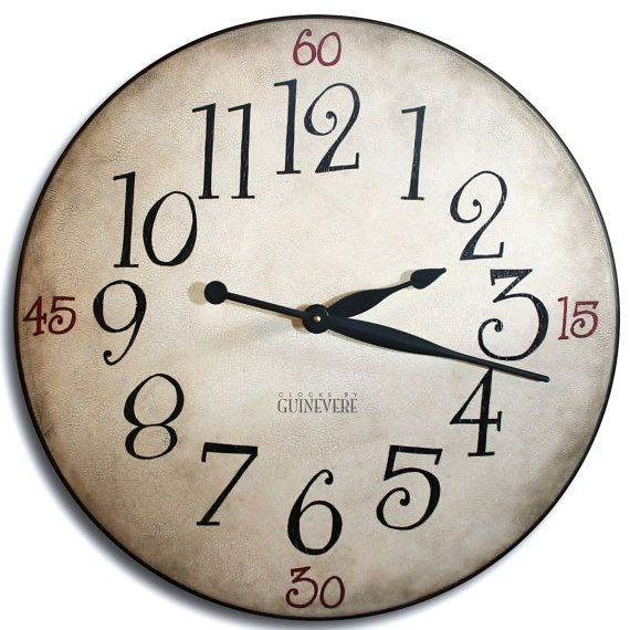 Large Wall Clock 24in Coventry Gallery Antique By