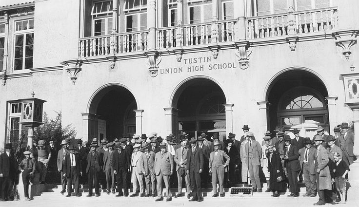 Persimmon growers at Tustin High School, circa 1926 | Flickr